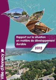 Rapport DD Annecy 2012 - DREAL Rhône-Alpes - Ministère du ...