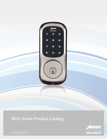 2012 Arrow Product Catalog - Arrow Architectural Hardware