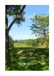 to read June 2013 newsletter - Romiley Golf Club