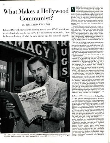 What Makes a Hollywood Communist? - The Saturday Evening Post
