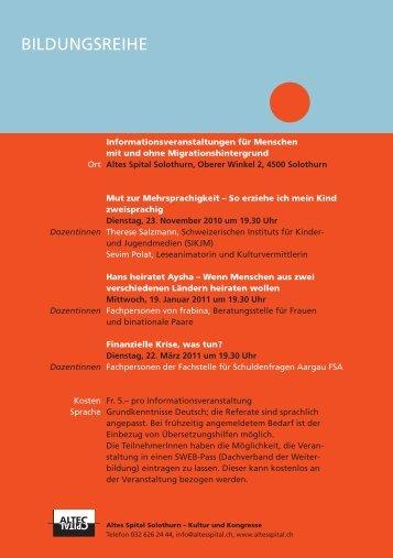 Flyer - Integration Kanton Solothurn