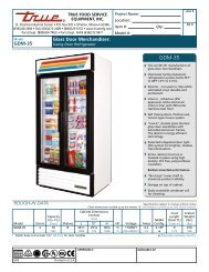 Specifications - Jean's Restaurant Supply