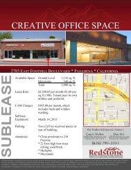 CREATIVE OFFICE SPACE - Sierra Madre News Net