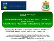 Host inflammatory and immune response to Clostridium ... - ICDS 2012