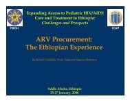 ARV Procurement: The Ethiopian Experience - ICAP