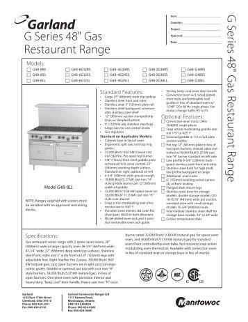 """G Series 48"""" Gas Restaurant Range - MyChefStore.com"""