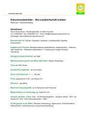 Exkursionsbetriebe - Bio-Landwirtschaft erleben - Bio Austria