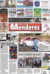 25 Ağustos tarihli Küçükmenderes Gazetesi