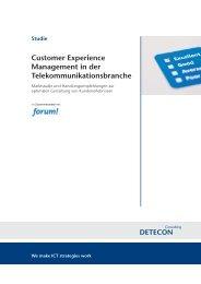Studie Customer Experience Management in der ...