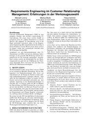 Requirements Engineering im Customer Relationship Management