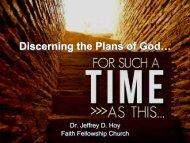 Discerning the Plans of God… - Faith Fellowship Church