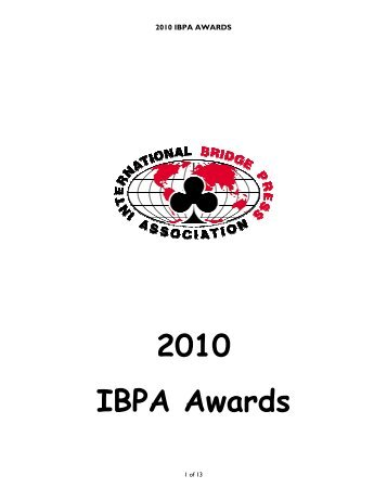 2010 IBPA AWARDS - Great Bridge Links