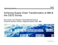 Achieving Supply Chain Transformation at IBM & the CSCO Survey