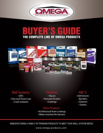 Omega Products Buyer's Guide - International Builders' Show