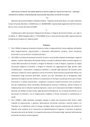 Accordo Sapienza CARD - CARD Confederazione Associazioni ...