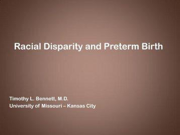 Racial Disparity and Preterm Birth