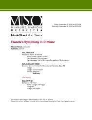 Franck's Symphony in D minor - Milwaukee Symphony Orchestra