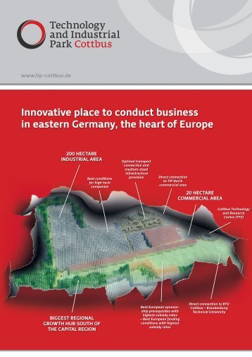 Innovative place to conduct business in eastern Germany, the ... - EGC