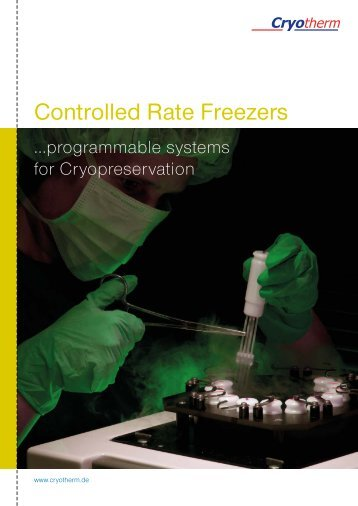 Controlled Rate Freezers - Cryotherm