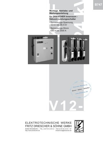 DRIESCHER Innenraum - Vakuum-Leistungsschalter V12- (B747)