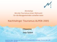 Nachhaltiger Tourismus ALPEN 2005