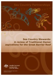Sea Country Stewards: A review of Traditional Owner aspirations for ...