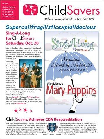 Fall 2007 newsletter - ChildSavers