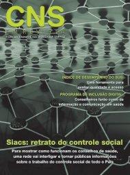 Siacs: retrato do controle social - Conselho Nacional de Saúde