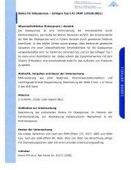 Risiko für Osteoporose œ Collagen Typ I A1 - Maiwald, Dr. Robert ...