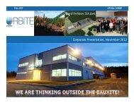 April 2012 - Orbite Aluminae Inc.