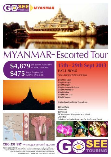 MYANMAR Escorted Tour - Go See Touring