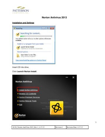 Norton AntiVirus 2013 - Installation and Settings