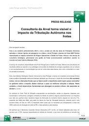 PRESS RELEASE Consultoria da Arval torna visível o impacto da ...