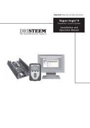 Installation and Operation Manual - DRI-STEEM