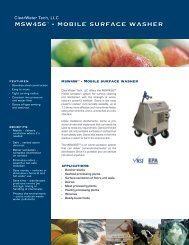 msw456™ - mobile surface washer - ClearWater Tech LLC.