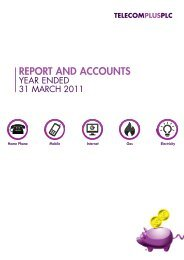 Report and Accounts - year ended 31 March 2011 - Utility Warehouse