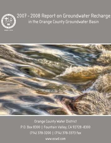 FY07-08 Annual Recharge Report - Orange County Water District