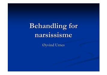 Behandling for narsissisme - KoRus Bergen