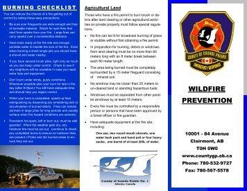 Wildfire Prevention Brochure - County of Grande Prairie