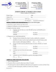 SIMPONI PRIOR AUTHORIZATION FORM - The Health Plan
