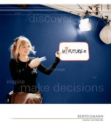 Management Development at Bertelsmann Brochure This new ...