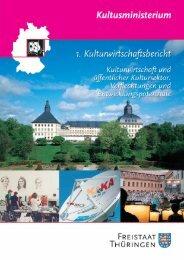 1. Kulturwirtschaftsbericht Thüringen - Freistaat Thüringen