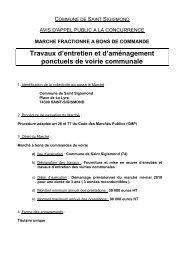 Travaux d'entretien et d'aménagement ponctuels ... - Saint Sigismond