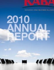 2010 KABA Annual Report - Kenosha Area Business Alliance