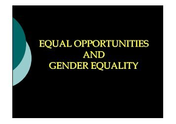 Presentation Gender Equality B