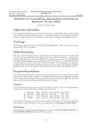 Link zum Infoblatt dieses Kurses in PDF Format. - Institut fuer ...