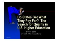 Do States Get What They Pay For? The Search for Quality in U.S ...