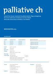 Mediadaten 2013 - Palliative ch