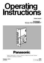 attention - Operating Manuals for Panasonic Products - Panasonic