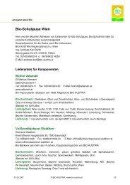 Bio-Schuljause Wien